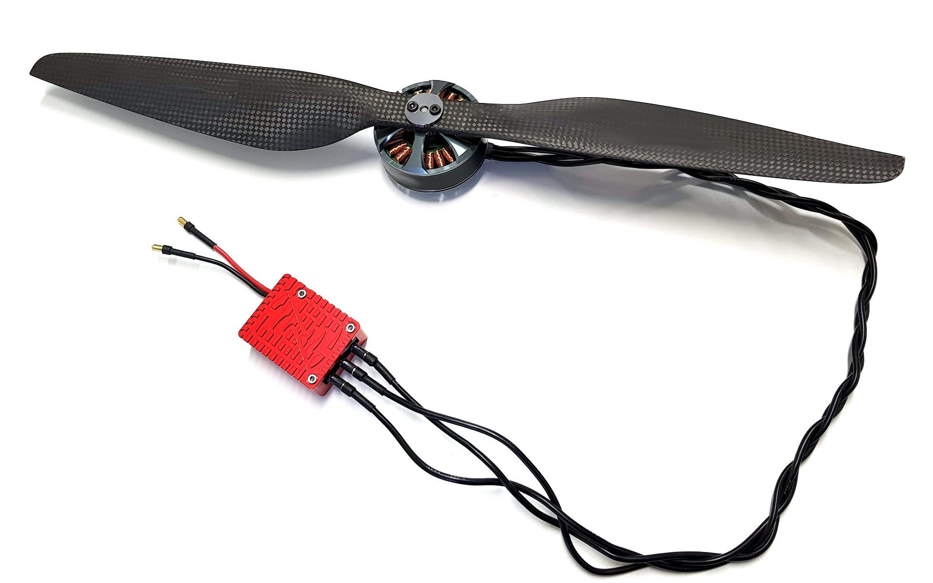 Complete UAV powertrain solution from ESC to propeller